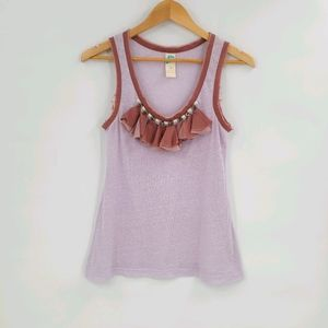 Anthropologie Sheer Cotton Blend Tank